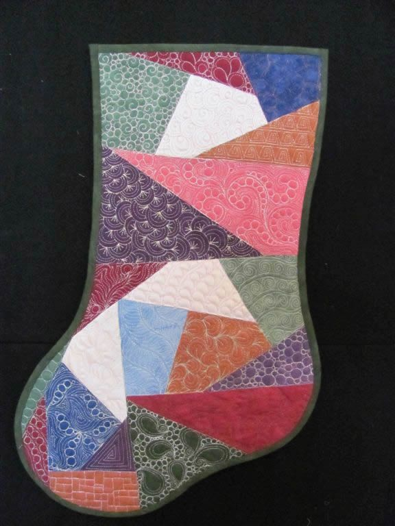 Crazy Quilt Stitch Sampler Stocking