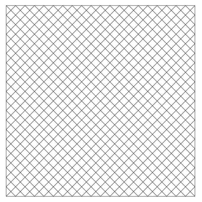 1/2″ Diagonal Pre-Printed Grid Practice Panel