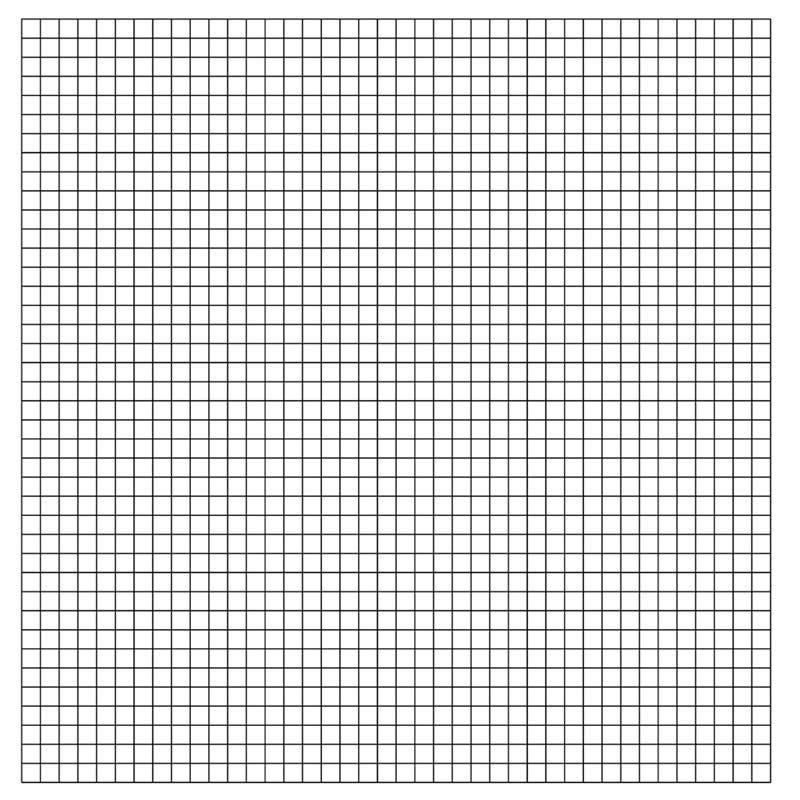 1/2″ Horizontal/Vertical Pre-Printed Grid Practice Panel