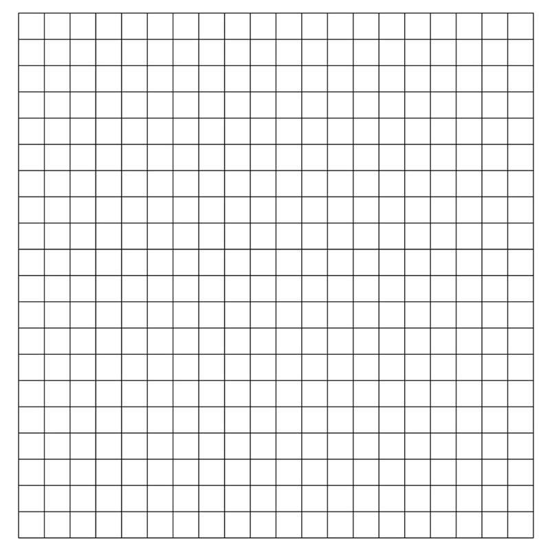 1″ Horizontal/Vertical Pre-Printed Grid Practice Panel