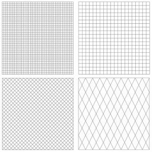 All Four Pre-Printed Grid Practice Panels