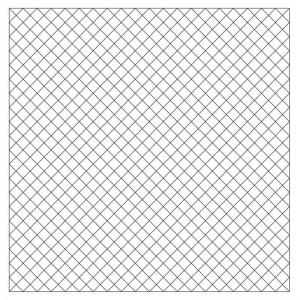 1/2″ Diagonal Pre-Printed Grid Practice Panel