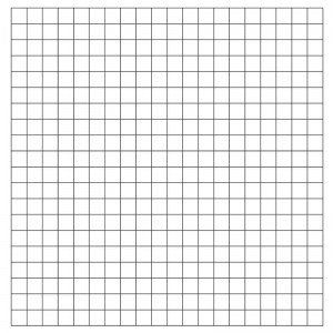 1″ Horizontal/Vertical Pre-Printed Grid Practice Panel