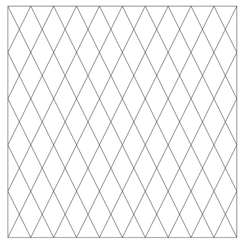 2″ Diamond Pre-Printed Grid Practice Panel
