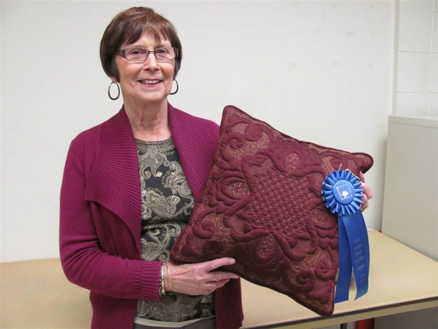 Juliet Granger with her 1st Place award winning pillow